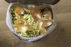 Organiska rester och matrester för recycying och composting arkivbild