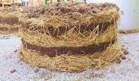 organiska rich för komposttäckning Arkivfoton