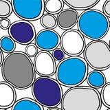 Organiska rundor Stilfull struktur av naturliga celler abstrakt bakgrund tecknad hand vektor illustrationer