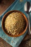 Organiska smulor för hemlagat bröd Royaltyfri Fotografi