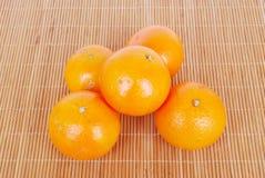 organiska tangerines Arkivfoton