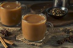 Organiska varma Chai Tea Drink Arkivbild