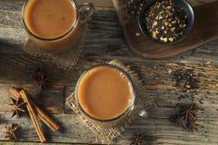 Organiska varma Chai Tea Drink Royaltyfri Foto