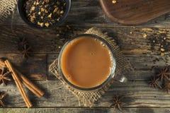 Organiska varma Chai Tea Drink Royaltyfri Bild