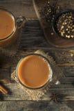Organiska varma Chai Tea Drink Fotografering för Bildbyråer