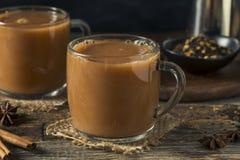 Organiska varma Chai Tea Drink Arkivfoto