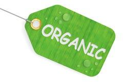 Organiskt begrepp, grön etikett framförande 3d Arkivbilder