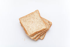 Organiskt bröd på den vita bakgrunden Royaltyfri Fotografi