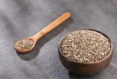 Organiskt chiafr? - Salvia hispanica Utrymme f?r text arkivfoton