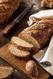 Organiskt hemlagat bröd för helt vete arkivfoton