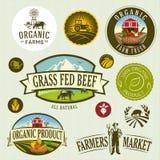 Organiskt & lantgård vektor illustrationer
