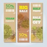 Organiskt shoppa baner Royaltyfria Bilder