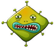 Organism. Illustration of an ugly virus Stock Image