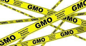 Organisme génétiquement modifié GMO Dispositifs avertisseurs jaunes illustration libre de droits