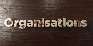 Organismes - titre en bois sale sur l'érable - image courante gratuite de redevance rendue par 3D illustration libre de droits
