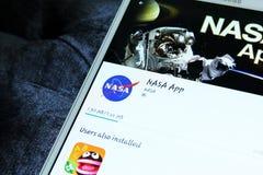 Organismo aeroespacial app de la NASA Fotos de archivo