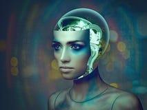 Organismo Cybernetic imagens de stock