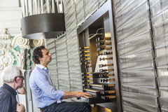 Organist in the Jesuitical Church in Heidelberg Royalty Free Stock Photography