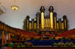 Organist of Mormon tabernacle Stock Images