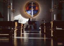 Free Organist Playing In Church. Royalty Free Stock Photography - 202348957