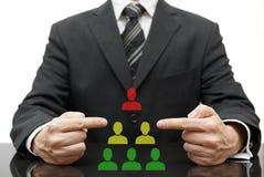 Organização com chefe difícil, gestão média má fotografia de stock royalty free