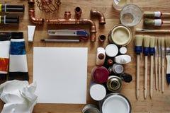 Organização criativa com utilites e lona livre Fotos de Stock