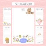 Organização de partido do dia de mães Imagens de Stock Royalty Free