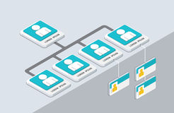 Organização e sturcture isométricos PNF-u liso da organização 3d Fotos de Stock Royalty Free
