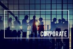 Organização incorporada da cooperação da colaboração da conexão concentrada fotos de stock