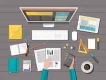 Organização incorporada do negócio Design web responsivo Conceito liso do estilo do projeto Imagens de Stock