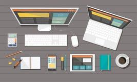 Organização incorporada do negócio Design web responsivo Conceito liso do estilo do projeto Fotos de Stock