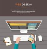 Organização incorporada do negócio Design web responsivo Conceito liso do estilo do projeto Imagem de Stock Royalty Free