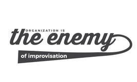 Organização o inimigo da improvisação ilustração do vetor