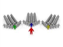 organización 3D con la protuberancia, los encargados y el personal stock de ilustración