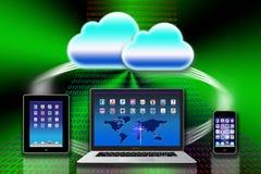 Organización de datos del ordenador del iCloud de Apple Mac Imagenes de archivo