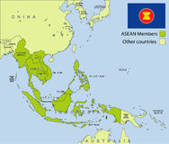 Organización de la Asociación de Naciones del c@sureste Asiático Fotografía de archivo