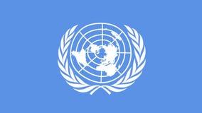 Organización de la bandera de la O.N.U de Naciones Unidas ilustración del vector
