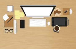 Organización realista del lugar de trabajo Imagen de archivo libre de regalías