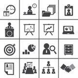 Organizaci i zarządzania przedsiębiorstwem ikony set Obrazy Stock