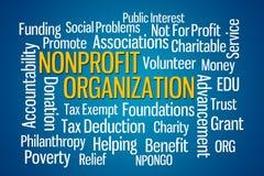 Organización sin ánimo de lucro Imagen de archivo libre de regalías