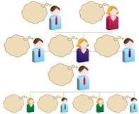 organizacyjna mapy różnorodność ilustracja wektor