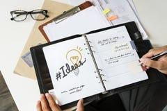Organizador aberto Concept do planejador de Layerspace fotos de stock