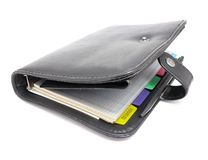 Organizador aislado en blanco Fotos de archivo libres de regalías