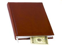 Organizador & cem dólares Imagens de Stock Royalty Free