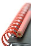 Organizador con el lápiz rojo Imagenes de archivo