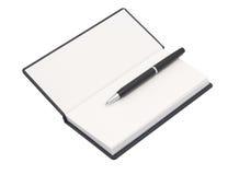 Organizador con la pluma. Fondo blanco. foto de archivo libre de regalías