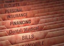 Organizador financiero Foto de archivo