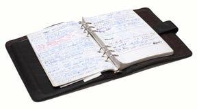 Organizador por completo de notas Imagenes de archivo