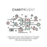 Organizações sem fins lucrativos e centro da doação Foto de Stock