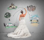 Organizando um casamento Foto de Stock Royalty Free